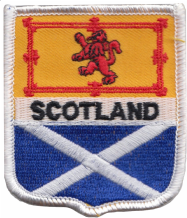 Scotland & Scotland Lion Rampant Friendship Flag Embroidered Patch A235